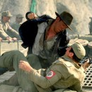 <p>Indiana Jones agrediendo a un nazi.</p>