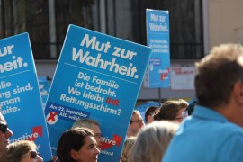 <p>Mitin de Alternativa para Alemania (AfD). Munich, 2013. </p>