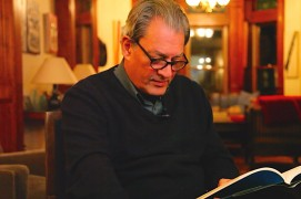 <p>Paul Auster, en su casa de Brooklyn en 2104.</p>