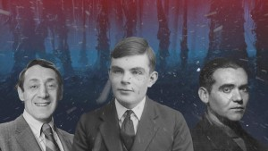<p>Harvey Milk, Alan Turing y Federico García Lorca en el 'Upside Down' de 'Stranger Things'.</p>