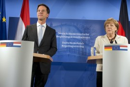 <p>Mark Rutte y Angela Merkel.</p>