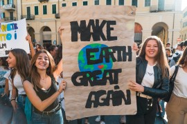 <p>Manifestación de <em>Fridays for Future</em> (Imperia, Italia. 2019)</p>