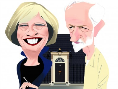 <p>Theresa May y Jeremy Corbyn.</p>