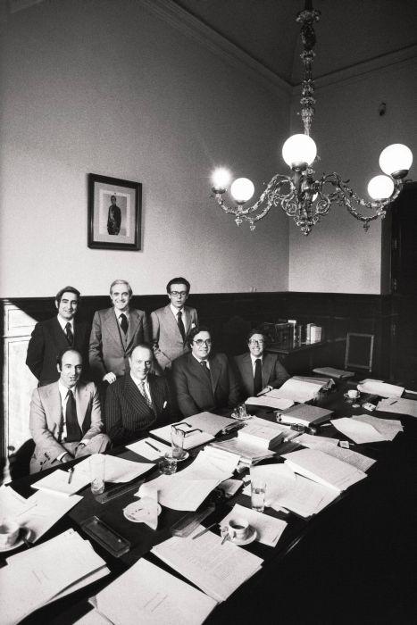 Los padres de la Constitución en el Congreso, 1978.