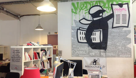 <p>Una imagen de la redacción de Mediapart, en París.</p>