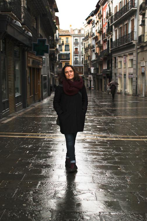 <p>Tania Balló, en Pamplona</p>