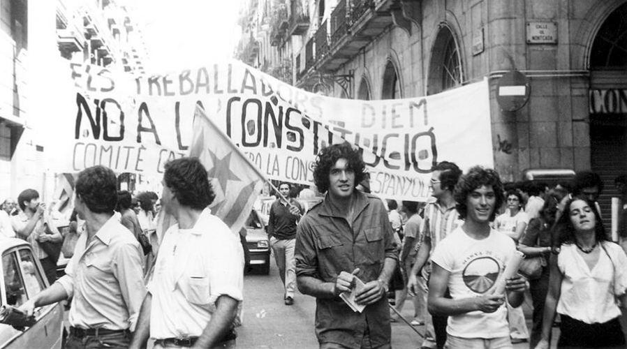 <p>Manifestación contra la Constitución. 1978</p>
