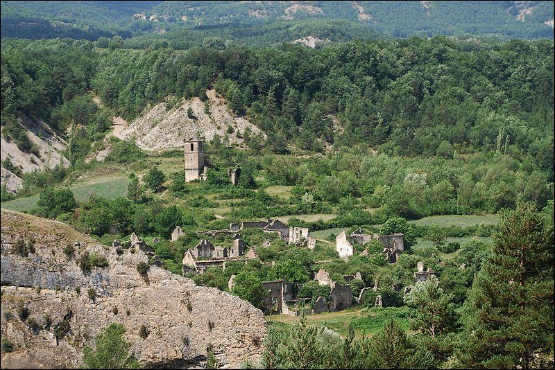 <p>Jánovas, pueblo abandonado del municipio de Fiscal (Huesca, España)</p>