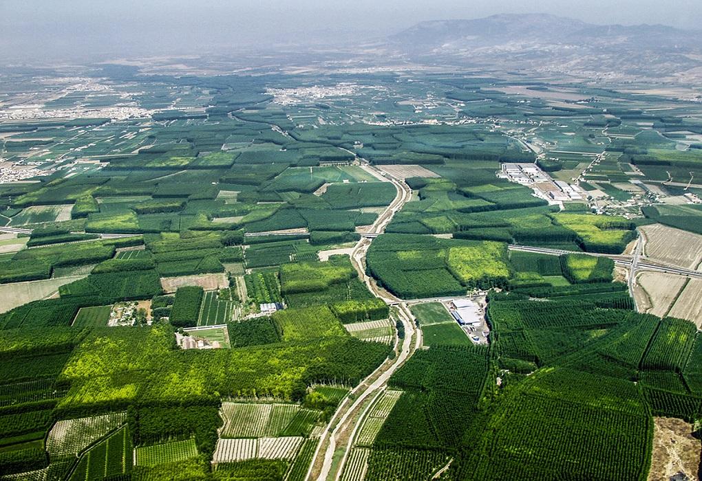 <p>Vista aérea de La Vega de Granada.</p>