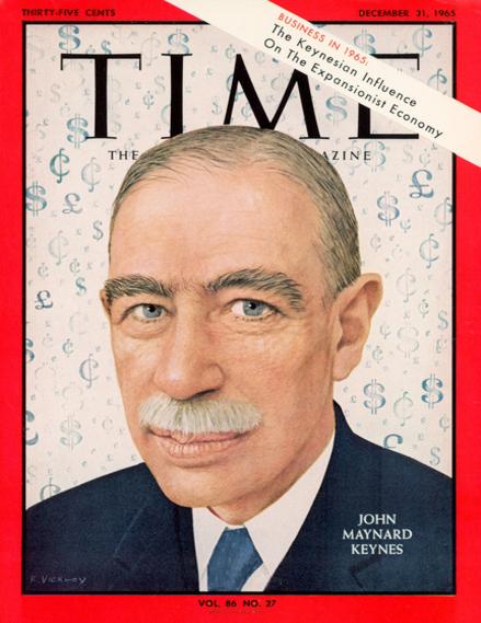 <p>Portada de la revista <em>Time</em> dedicada a Keynes, diciembre 1965.</p>