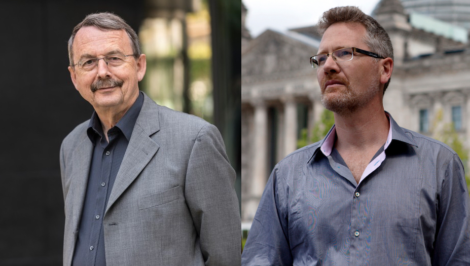 <p>Wolfgang Streeck y Adam Tooze.</p>