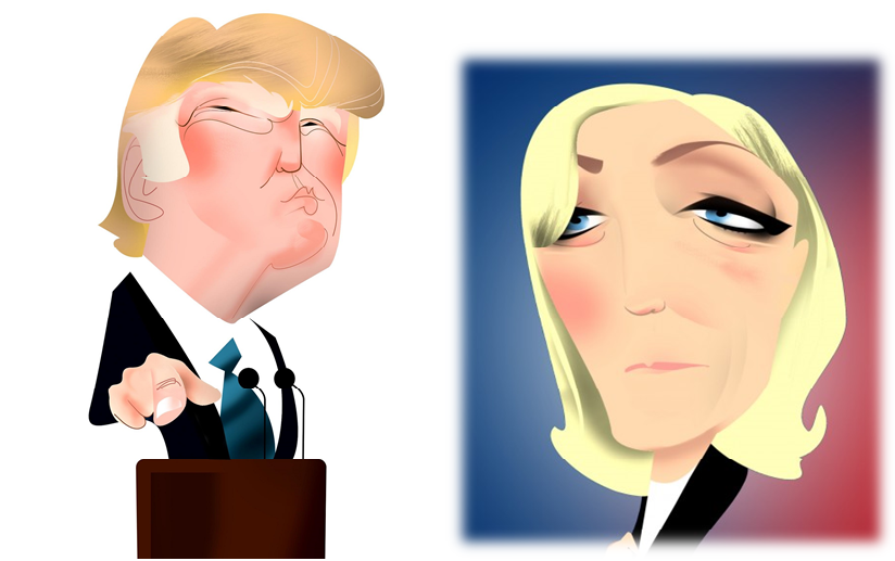 <p>Marine Le Pen y Donald Trump</p>