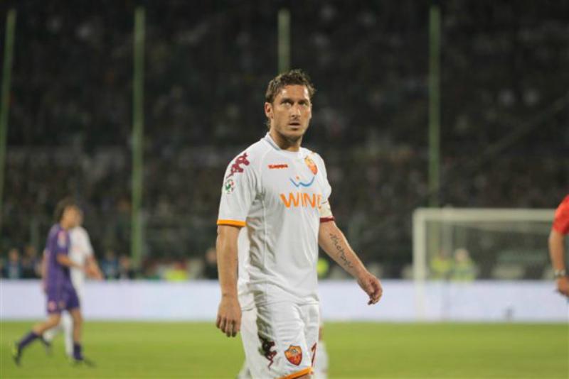 <p>Francesco Totti en un partido en 2009.</p>