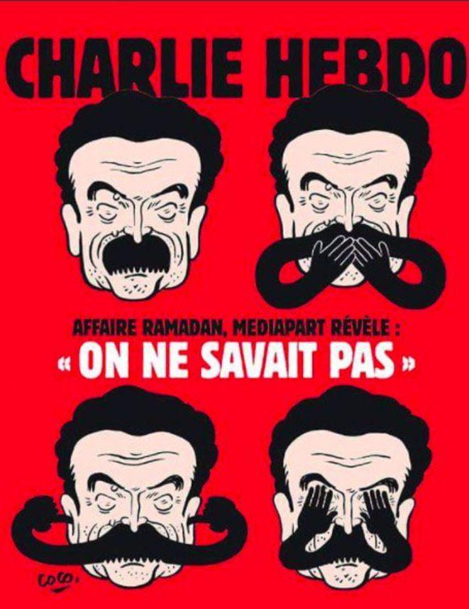 <p>Portada de <em>Charlie Hebdo</em> contra el director de <em>Mediapart,</em> Edwy Plenel.</p>