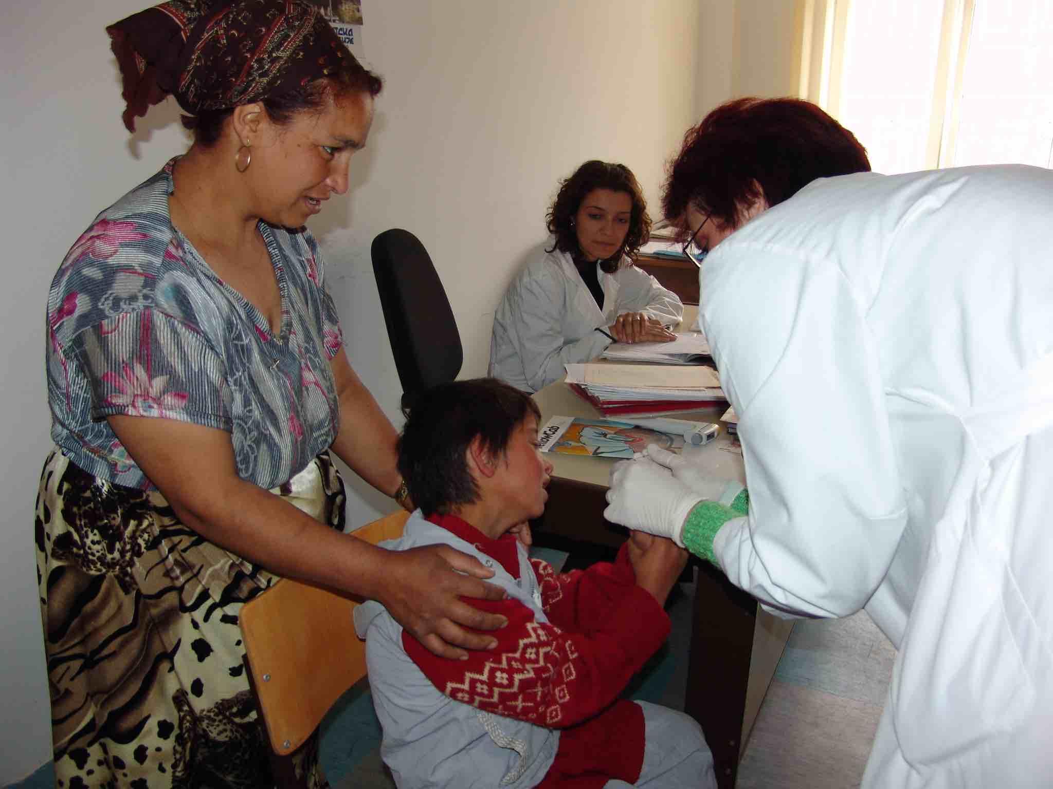 <p>Un paciente afectado por el plomo durante una prueba médica.</p>