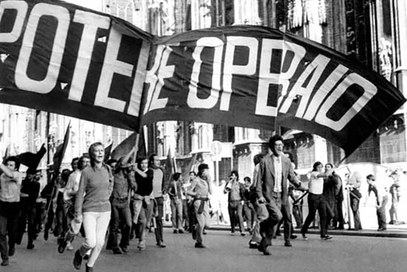 <p>Manifestación del grupo Potere Operaio en Milán.</p>