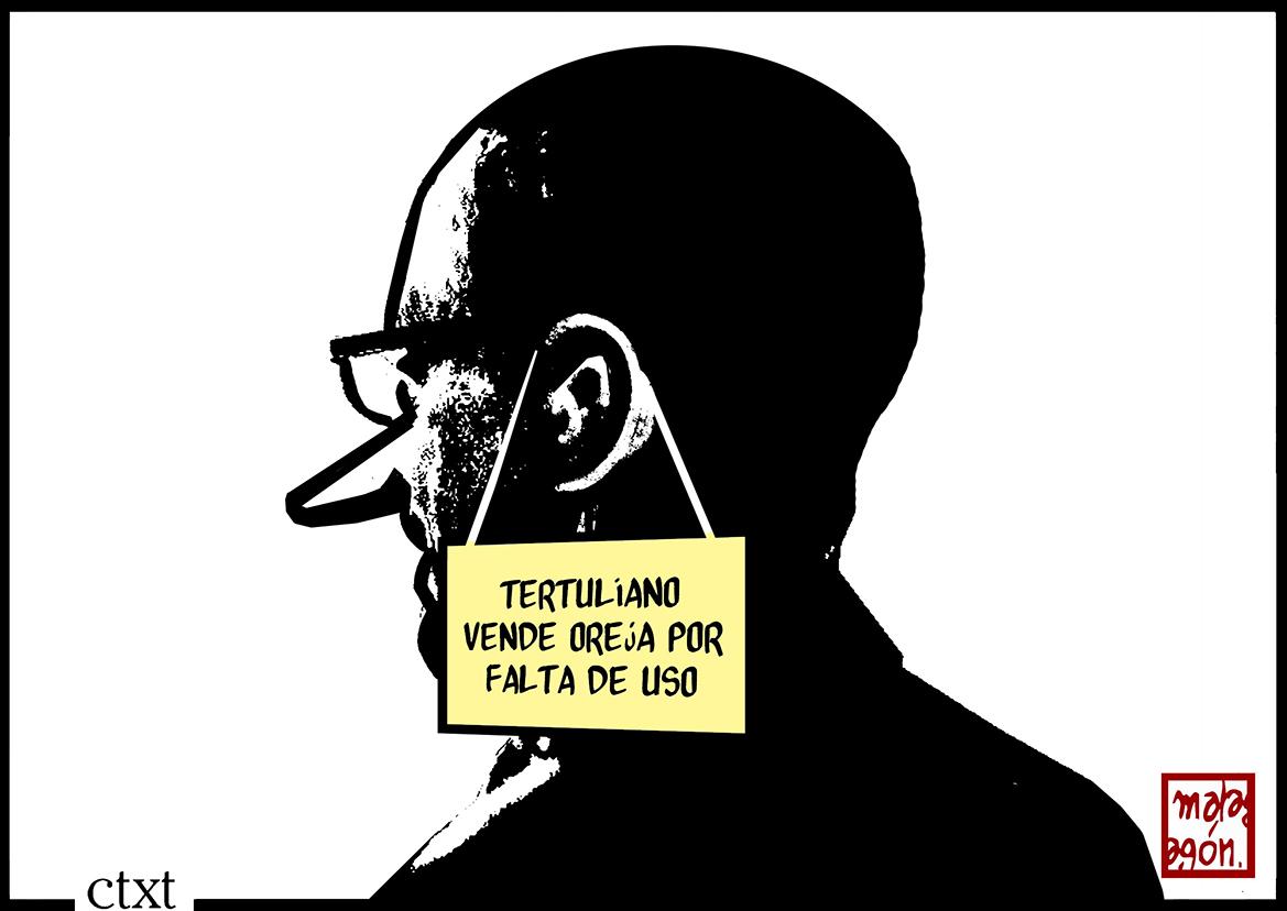 <p>Tertuliano vende oreja.</p>