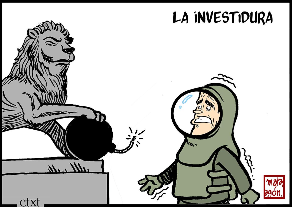 <p>Pedro Sánchez en la investidura.</p>