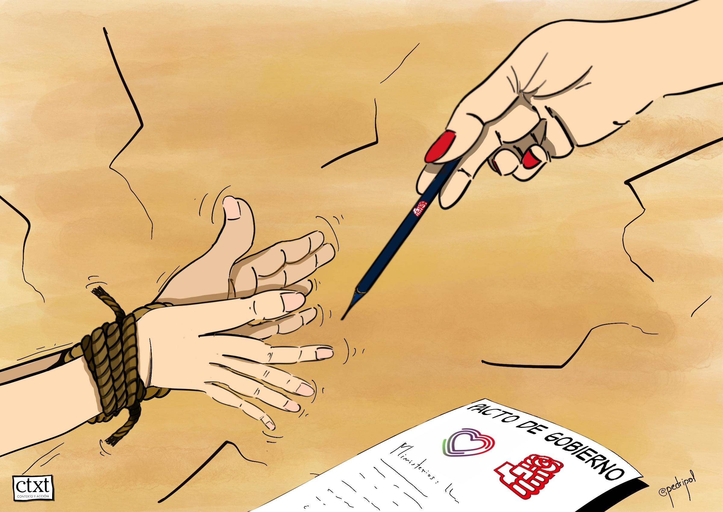 <p>Pacto de gobierno, UP, PSOE</p>