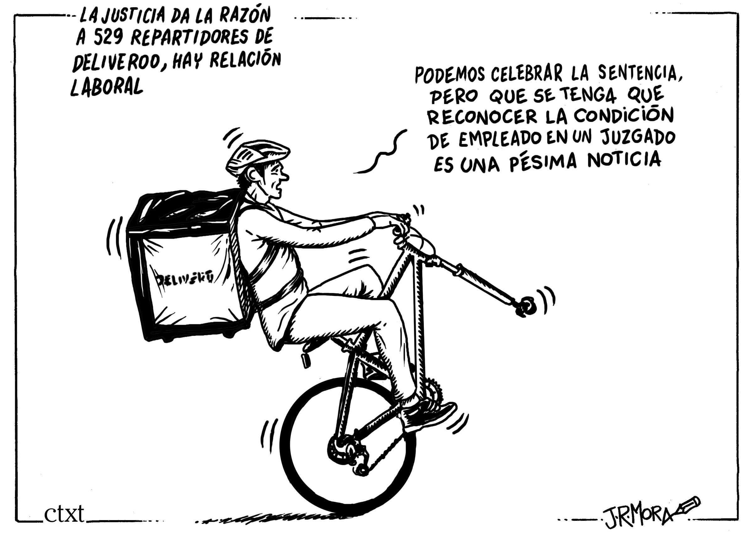 <p>Sentencia de un juzgado de Madrid señala que los riders son trabajadores de Deliveroo.</p>