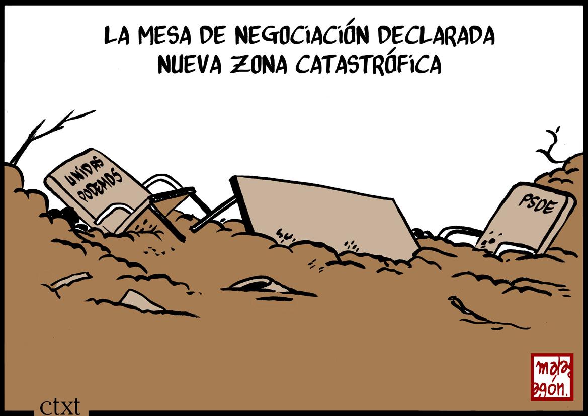 <p>Mesa de negociación, PSOE, Unidas Podemos.</p>
