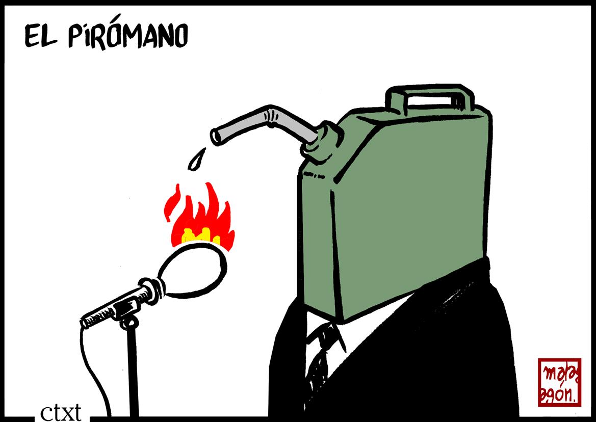 <p>El pirómano.</p>