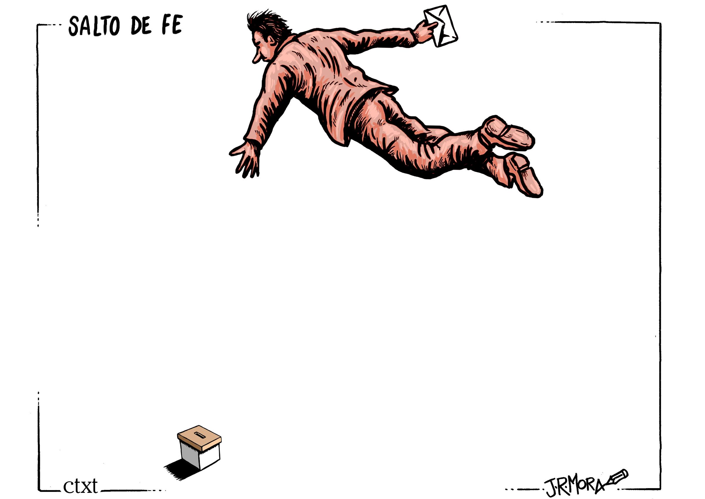 <p>Salto de fe.</p>