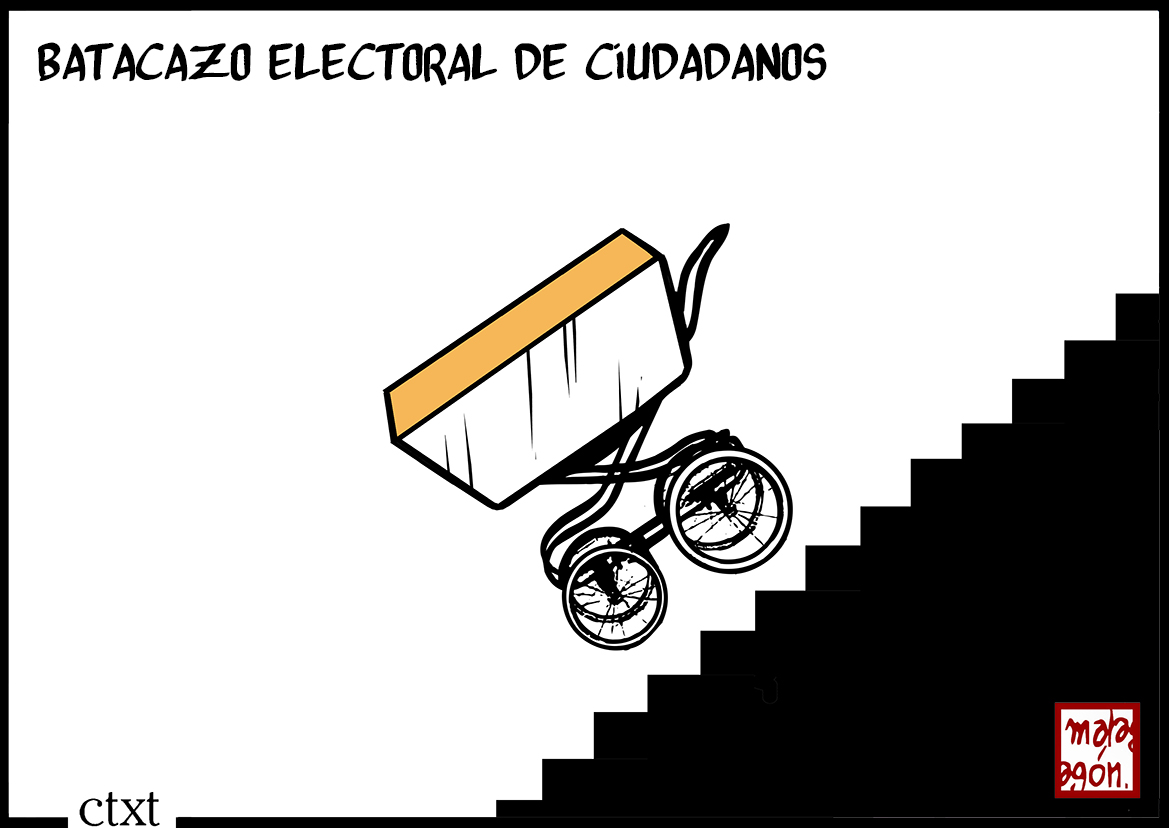<p>Batacazo electoral de Ciudadanos.</p>