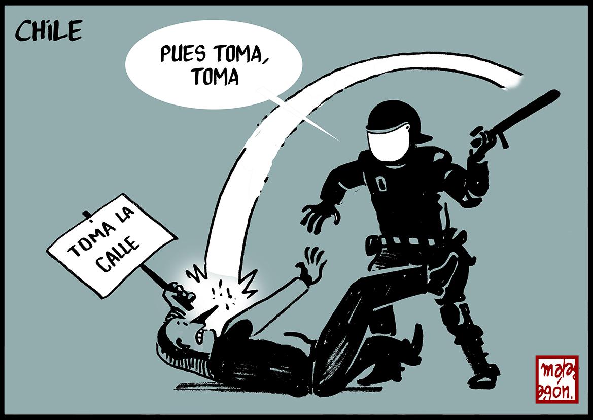 <p>Represión policial en Chile</p>