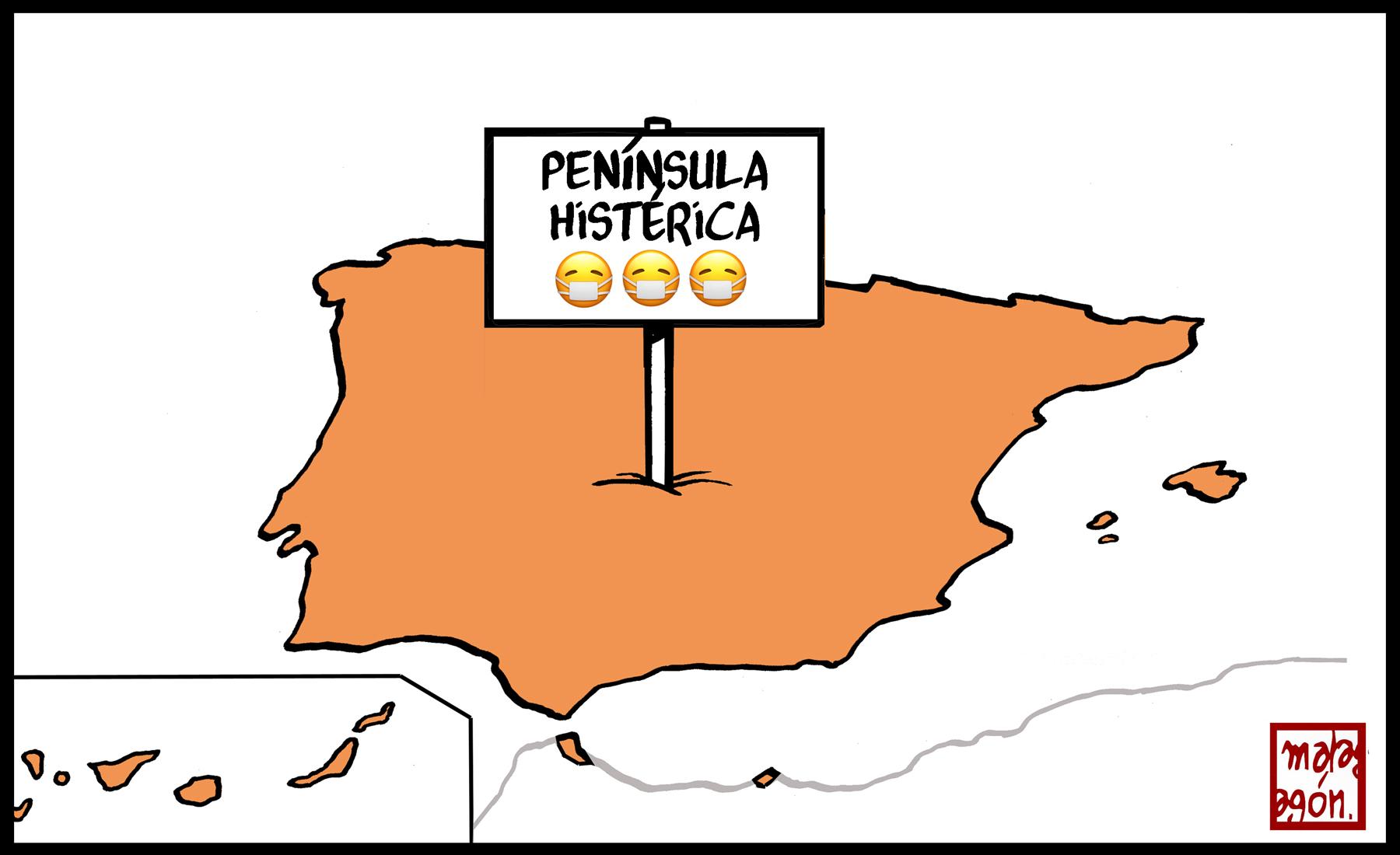 <p>La península.</p>