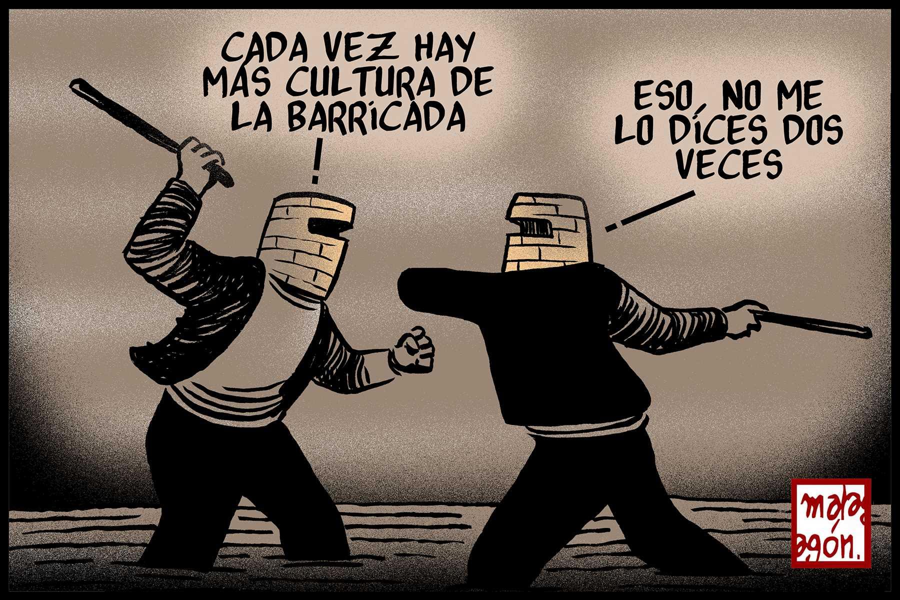 <p>Cultura de la barricada.</p>