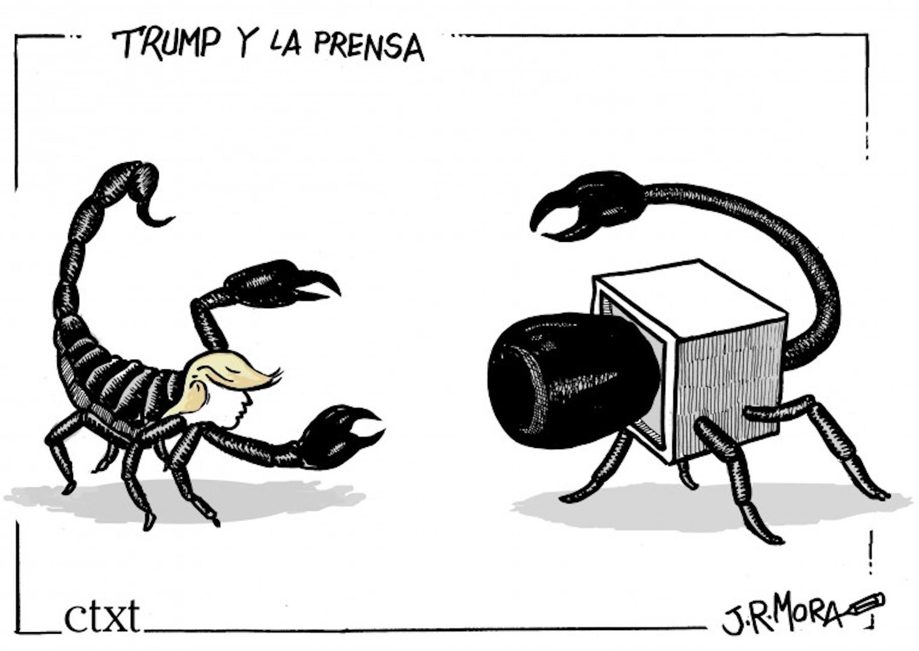 <p><em>Trump y la prensa.</em></p>