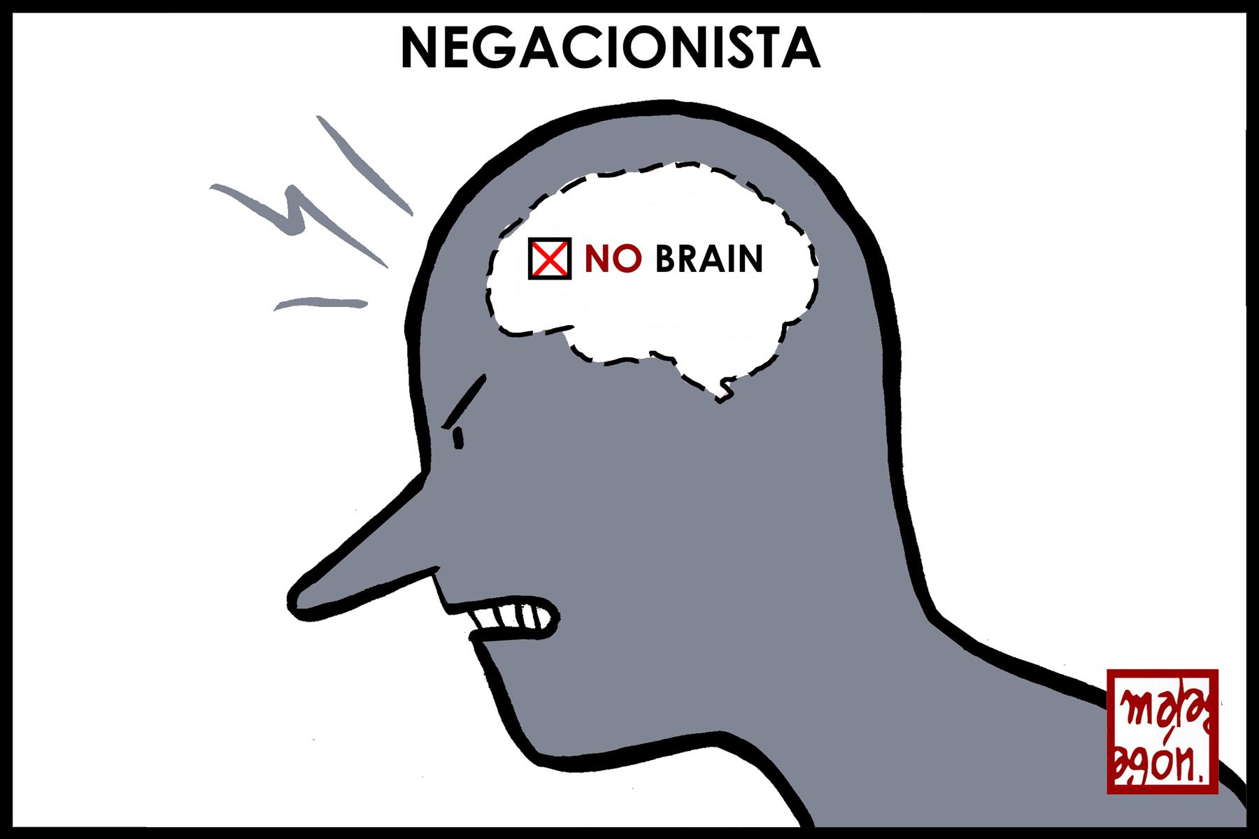 <p><em>Cerebro de negacionista.</em></p>