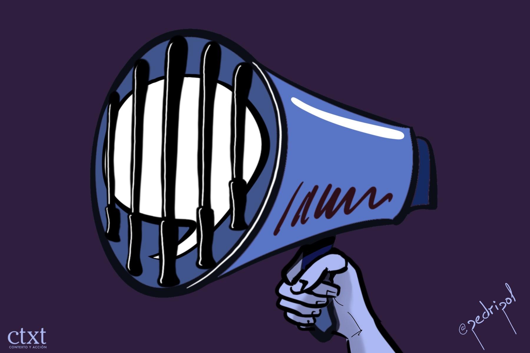 <p>Libertad de expresión, represión</p>