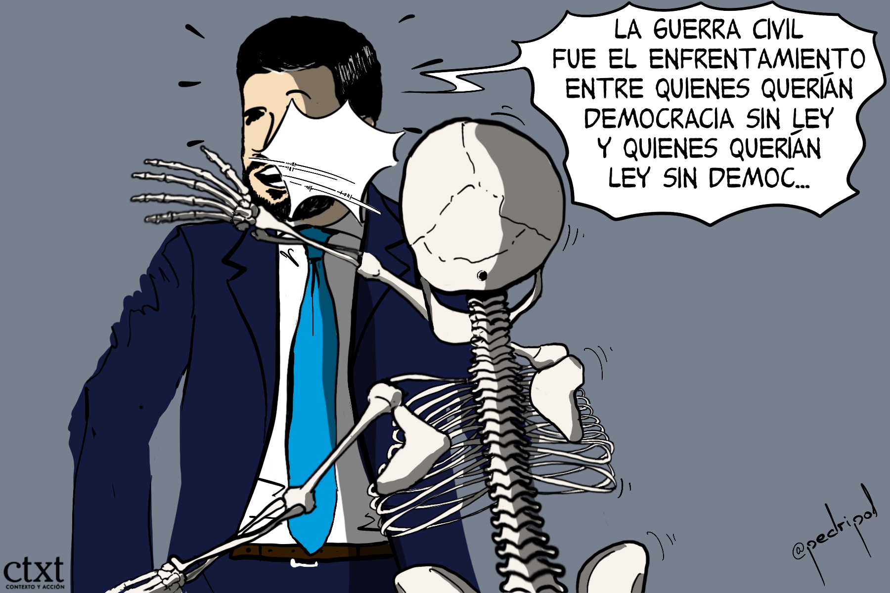 <p>Pablo Casado, dictadura franquista</p>